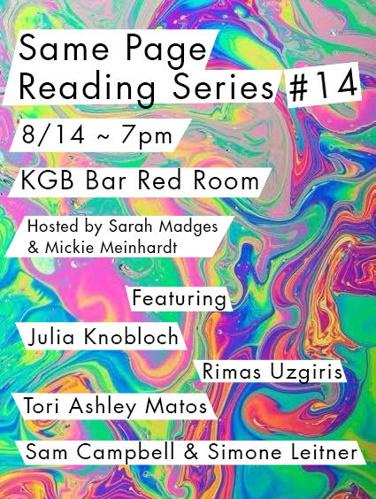 Same Page Reading Series